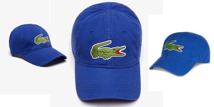 Mua Mũ Lacoste Men's Big Croc Gabardine Cap Blue Nam, màu xanh blue anh 2