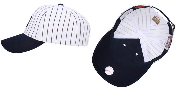 Mua Mũ MLB New York Yankees Coopers Stripe Jersey Ball Cap, màu trắng xanh navy, giá tốt ảnh 2