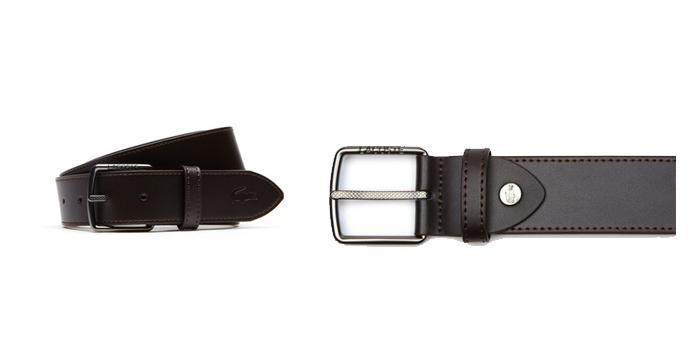 Mua Thắt Lưng Men's Lacoste Engraved Tongue Buckle Leather Belt RC1696-H70, màu nâu, Giá tốt