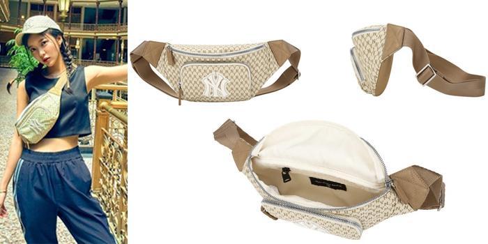 Mua Túi đeo hông MLB New York Yankee Monogram Belt Bag Brown, màu nâu, Giá tốt