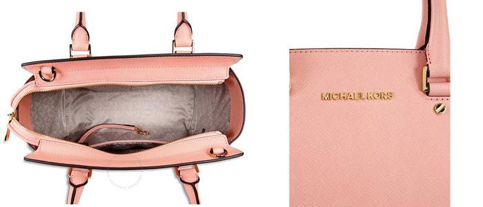 Mua Túi Xách Michael Kors Selma Saffiano Leather Medium Satchel, màu hồng, Giá tốt ảnh 2