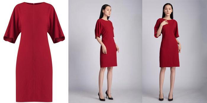 Mua Váy Am Young suông 4 mảnh, Màu Đỏ, Chất Babie Dày, Giá Rẻ