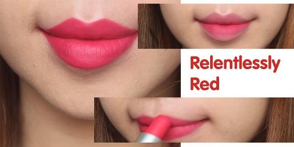 Mau son MAC Relentlessly Red do hong san ho
