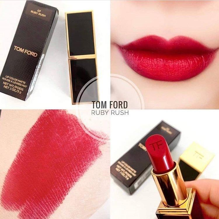 Thiet ke Son Tom Ford Lip Color Matte Lipstick 07 Ruby Rush