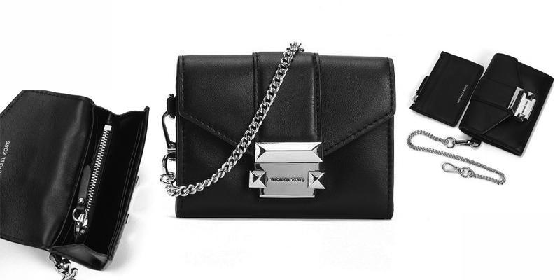 Túi Đeo Chéo Michael Kors Ladies Whitney Small Leather Chain Wallet Màu Đen